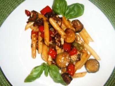 Penne-Gemüse- Pfanne - Rezept