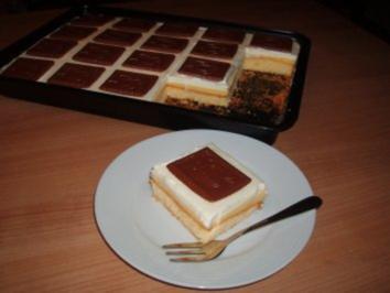 Schokokeks-Kuchen mit Orangenpudding - Rezept
