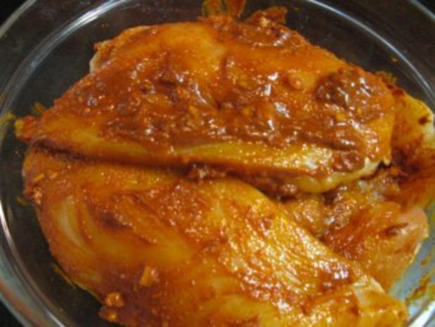 Hähnchenbrust auf Paprika gebettet - Rezept - Bild Nr. 4