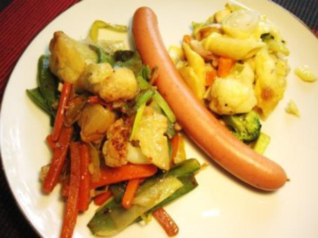 Gemüse aus dem Wok ... - Rezept