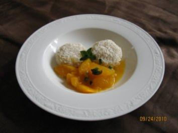 Rezept: Kokosklößchen auf Orangensalat