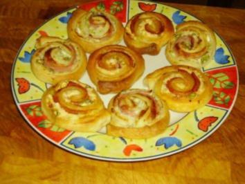 Partyhappen: Salami-Schnecken - Rezept
