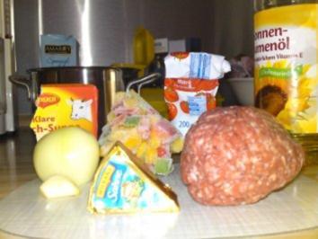 Käse-Hackfleischsoße - Rezept