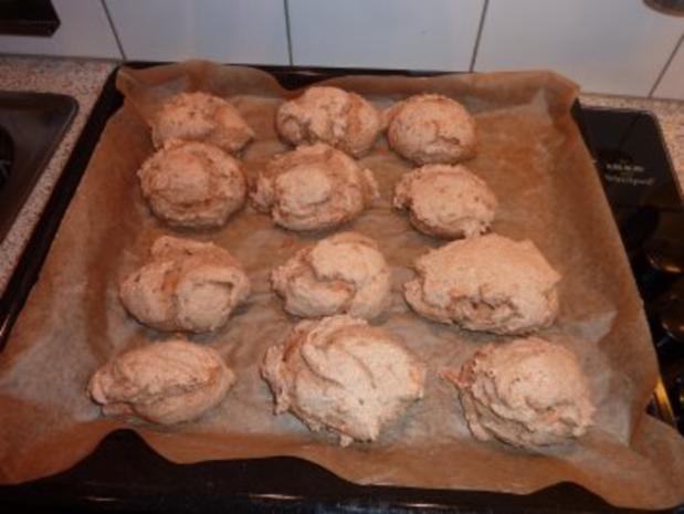 Vollkorn Dinkel- Roggenbrötchen - Rezept