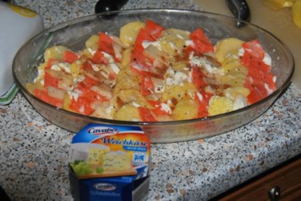 Filetsteaks auf Safransahne-Lauch an Kartoffel-Birnengratin... - Rezept - Bild Nr. 4