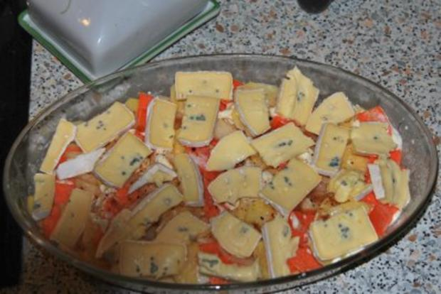 Filetsteaks auf Safransahne-Lauch an Kartoffel-Birnengratin... - Rezept - Bild Nr. 5