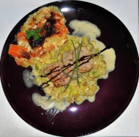 Filetsteaks auf Safransahne-Lauch an Kartoffel-Birnengratin... - Rezept - Bild Nr. 11