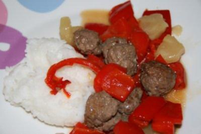 Thailändische Fleischbällchen süß-sauer - Rezept
