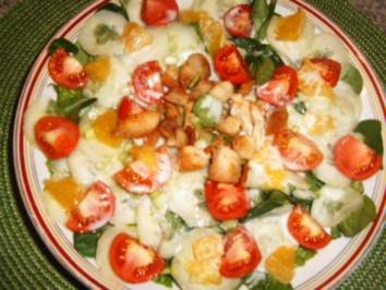 Rezept: Salat mit Kokosmilch-Joghurt-Dressing