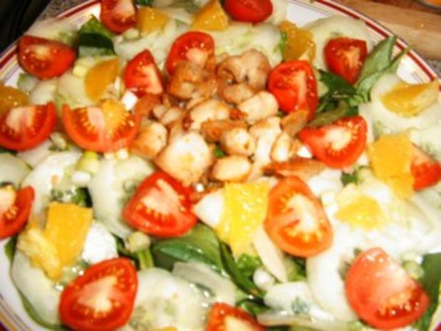 Salat mit Kokosmilch-Joghurt-Dressing - Rezept - Bild Nr. 4