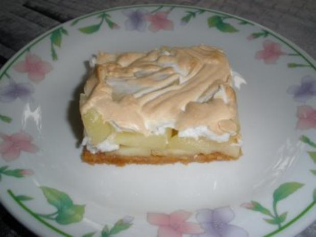 Apfelkuchen mit Haube - Rezept