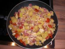 Kartoffelpfanne Resteallerlei - Rezept