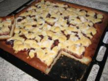 Pflaumenkuchen mit Streusel - Rezept