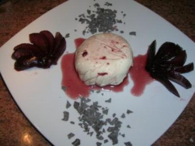 Mascarponecreme und Rotweinbirnen - Rezept