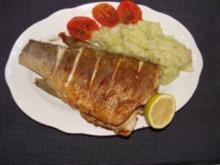 Fisch : -Schwarzbarsch am Stück gebraten.- - Rezept