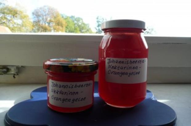 Marmelade: Johannisbeer - Nektarinen - Orangengelee - Rezept - Bild Nr. 3