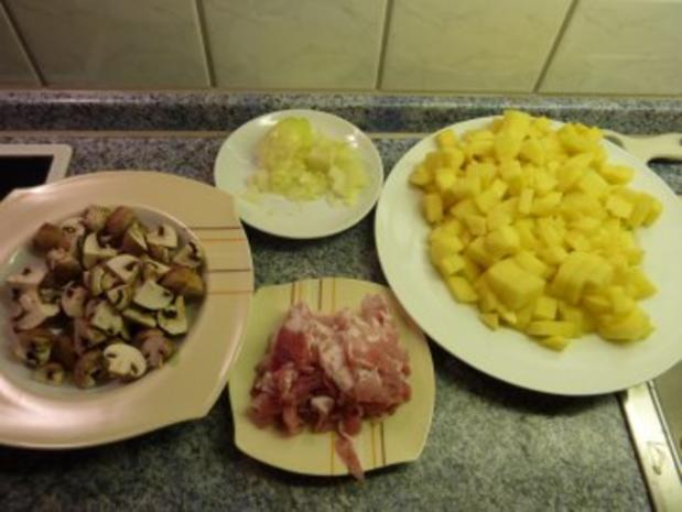 Kartoffel-Tortillia mit Speck und Champignons - Rezept - Bild Nr. 2