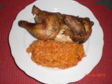 Backhähnchen mit Djuvec-Reis - Rezept