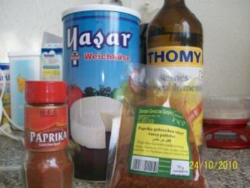 Scharfskäse dip - Rezept