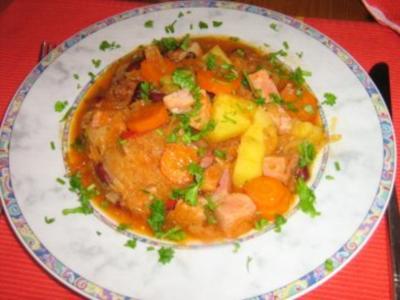 Scharfe Sauerkrautsuppe - Rezept