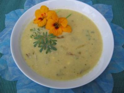 pikante Chicoree-Gemüse Suppe - Rezept