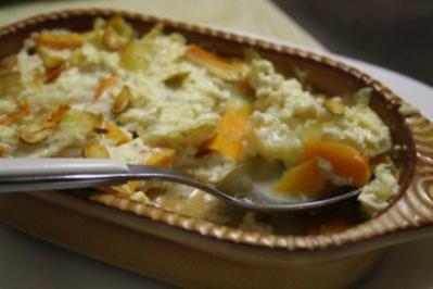 Rezept: Kartoffel-Karotten-Gratin