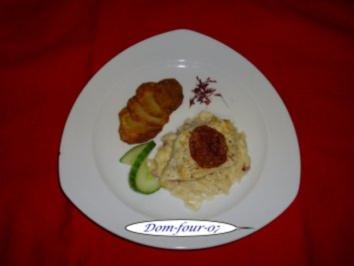 Schollenfilet auf Riesling-Honig-Rahm-Apfel-Sauerkraut - Rezept
