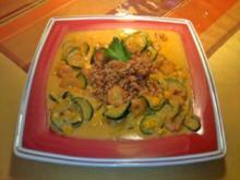 Risotto mit Shrimps, Mais und Zucchini - Rezept