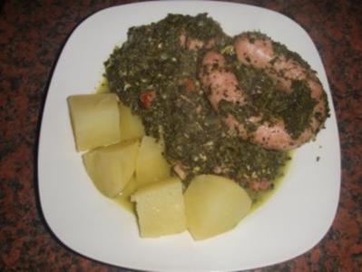 Grünkohl mit Kohlwurst und Salzkartoffeln - Rezept