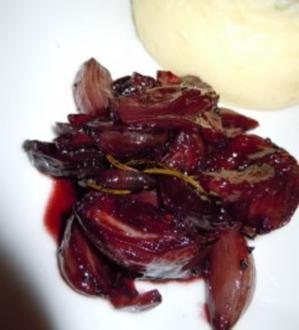 Rotweinschalotten - Rezept