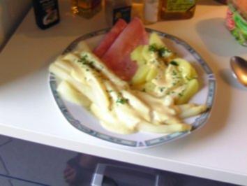 Spargel , einfach nur mit Kartoffeln - Rezept