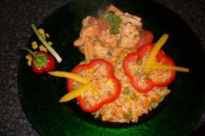 Mexicanischer Reis mit Hühnchen.... - Rezept