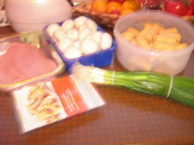 Schnitzel mit Champignon-Rahmsoße und Kroketten - Rezept - Bild Nr. 2
