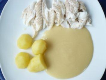 Kochfisch mit Senfsoße - Rezept