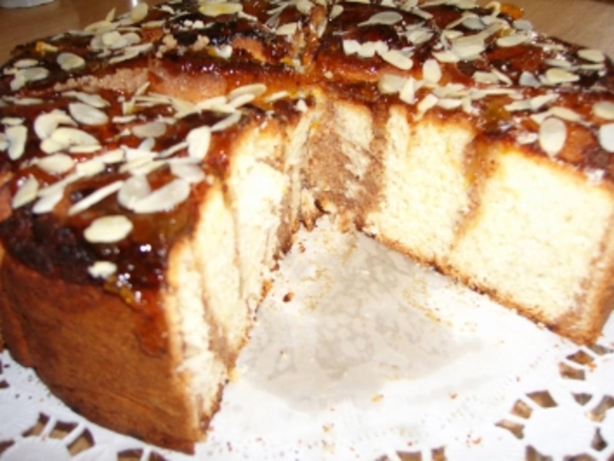 Rosenkuchen mit Mehl und frische Hefe - Rezept Eingereicht von Forny