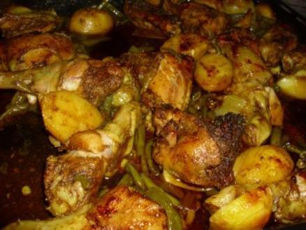 Hähnchenschenkel aus dem Backofen - Rezept