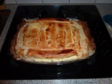 mein gedeckter Topfen Apfelstrudel in der Auflaufform - Rezept