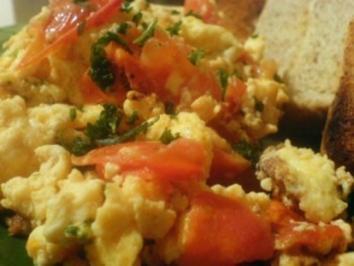 Tomatenrührei - Rezept