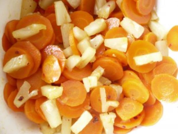 Möhrensalat mit Chiliananas - Rezept