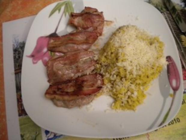Saltimbocca mit Risotto und Salat - Rezept - Bild Nr. 2
