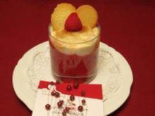Himbeer-Mango-Creme im weißen Kleid - Rezept
