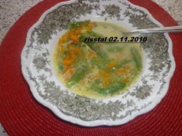 Bohnen-Karottensuppe - Rezept