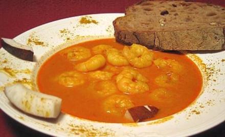 Garnelen in Kokos-Curry-Suppe - Rezept