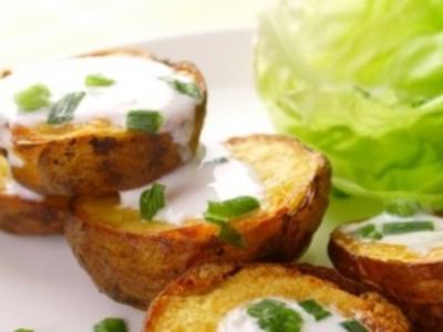 Backofenkartoffeln mit Kräuterquark (selbstgemacht) - Rezept
