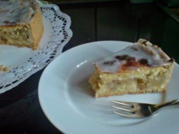 Kuchen - Gedeckte Apfeltorte mit Guß - Rezept