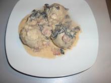 Morchel - Bacon - Sahnesauce - Rezept