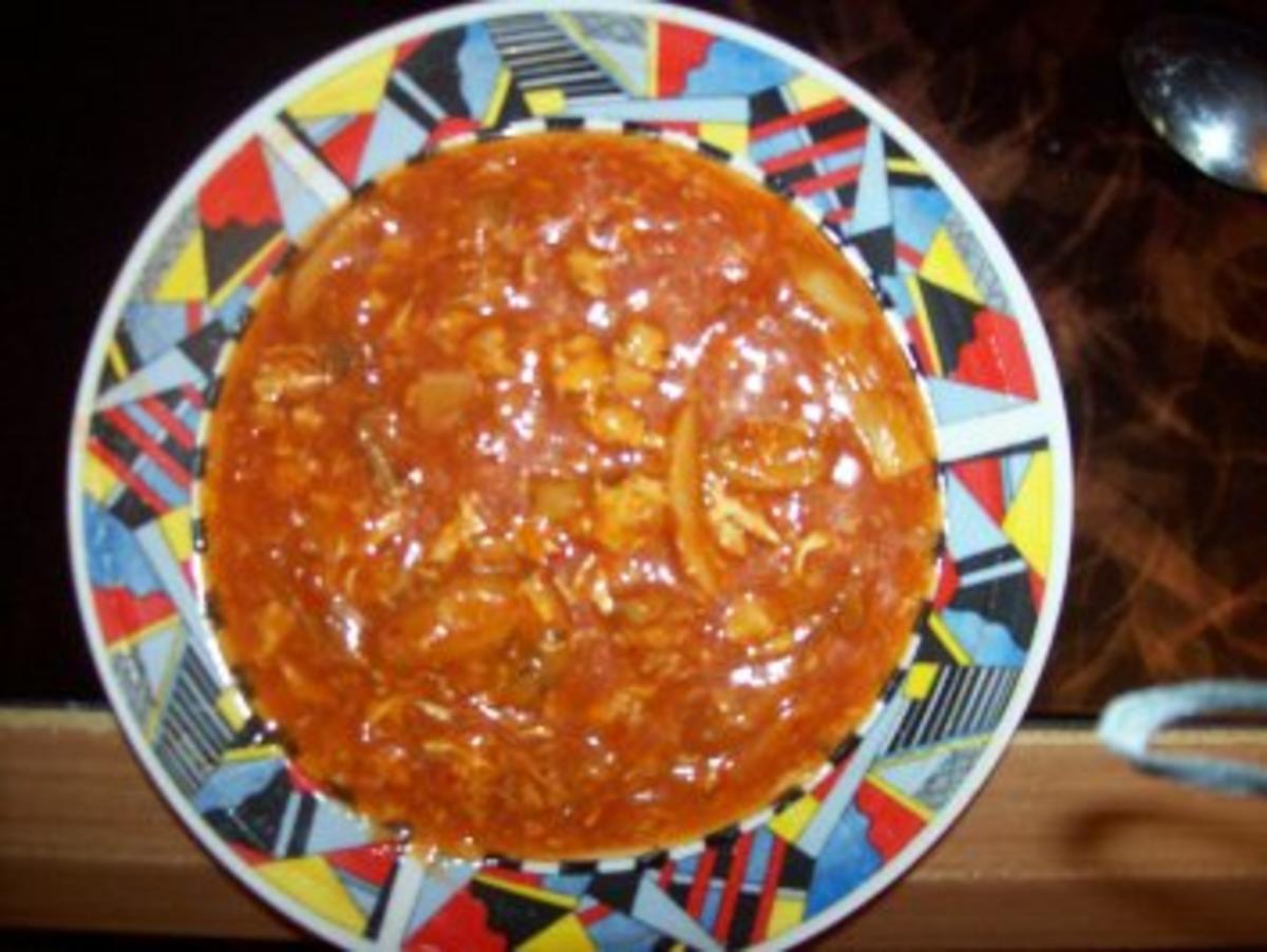 Sauer Scharf Suppe Pekingsuppe oder Shangsu Suppe