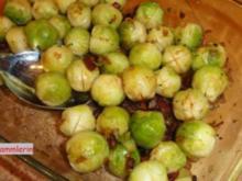 Gemüse:    ROSENKOHL  an Schinkenwürfel - Rezept
