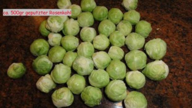 Gemüse:    ROSENKOHL  an Schinkenwürfel - Rezept - Bild Nr. 3