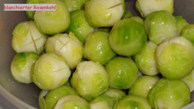 Gemüse:    ROSENKOHL  an Schinkenwürfel - Rezept - Bild Nr. 5